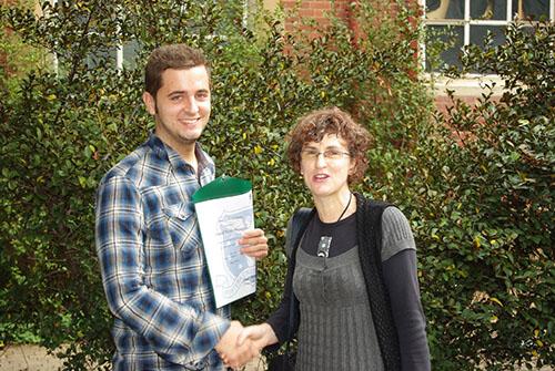 CTWD award in 2010 Daniel and Sue